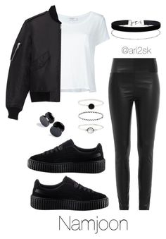 """In the city - Namjoon "" by ari2sk ❤ liked on Polyvore featuring Frame, Yves Saint Laurent, Zadig & Voltaire, Puma, Miss Selfridge and Accessorize"