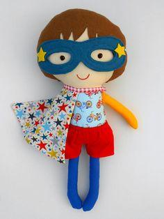 Fabric doll, superhero, cloth doll, rag doll, dolls, softdolls, superhero doll, soft toy, dollsanddaydreams, toys, imaginativ play toy, gender neutral toys