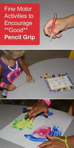 {Fine Motor Activities to Encourage Good Pencil Grip} Holding a pencil correctly- why does something that looks so easy seem so hard to teach our kids? *Tips from an OT.