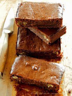 Brownie au Chocolat, Purée d'Amande et Haricots Rouges Azuki