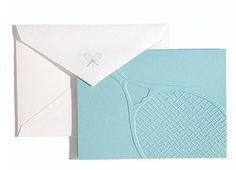 Adorable tennis stationery.  CUTE!