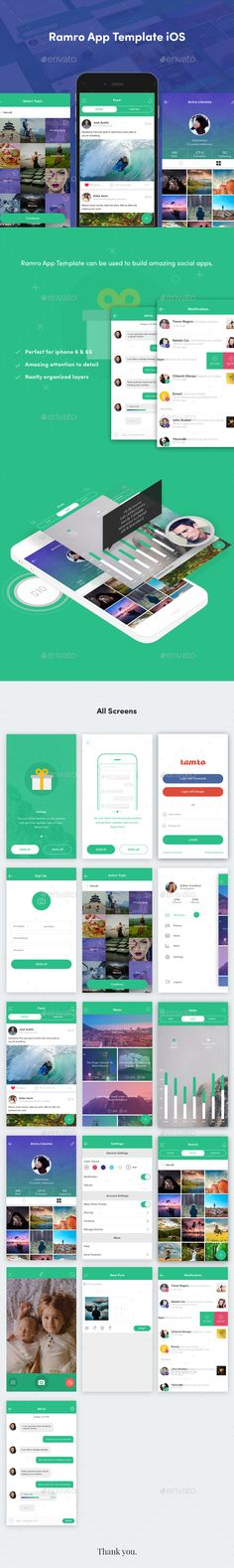 Ramro App Template iOS - User Interfaces Web Elements