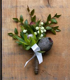 Boutonniere is a french word meaning 'button hole' and is the name for a flower or small bouquet worn on the lapel of a man's jacket. Floral Wedding, Wedding Bouquets, Wedding Flowers, Wedding Buttonholes, Wedding Pins, Wedding Groom, Wedding Ideas, Wedding Stuff, Boutonnieres