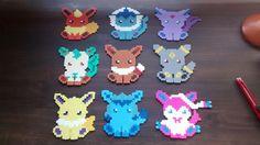 Eeveelutions! Pokemon Sprites, Perler Beads, Beading Patterns, Pixel Art, Kandi, Stitches, Crafts, Hama, Bead Patterns