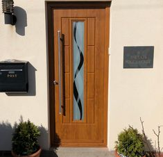 An industry-leading manufacturer of tailor-made composite doors, stable doors and french doors with unmatched strength and security. Oak Front Door, Back Doors, Composite Door, Light Oak, Bungalow, Tall Cabinet Storage, Old Things, Barn, Industrial