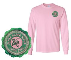 Alpha Kappa Alpha Patch Seal Long Sleeve T-Shirt from GreekGear.com