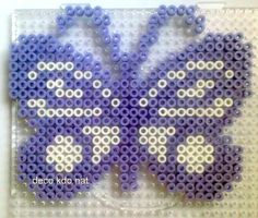 Butterfly hama perler beads by deco.kdo.nat, pixelated, grid
