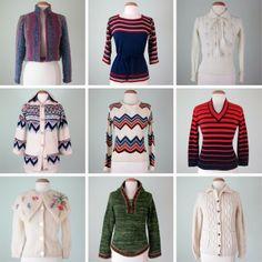 Sally Jane Vintage: Etsy: Cozy Sweaters