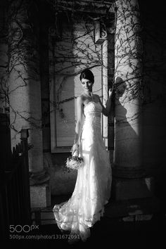 #nancyavon from www.bit.ly/jomfacial Sharing a light moment with your love dear! Bride in B&W by MagArti