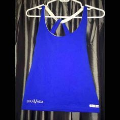 💪🏼BeverlyHills Gym top yoga fitness workout Super cute criss cross straps in back, color block blue white top. Amazing high quality Bia Brasil suplex top!! Best workout top available! Bought at a hot yoga studio in beverlyhills, now I'm pregnant and never got to wear it! Retail $62 new with  tags, not Nike      Tags: Pilates , hot yoga, workout, gym clothes, suplex, spandex, nylon, neoprene , cross fit, weight training, Brandy Melville,  LF, free people, pacsun, urban outfitters, michael…