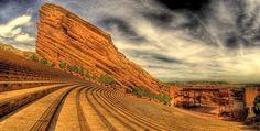 #ridecolorfully #katespadeny #vespa to Red Rocks Amphitheater in Morrison, CO