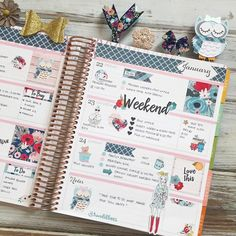 Last week part I've just realized that kit matches December's kit perfectly 🙊 Agenda Planner, Cute Planner, Goals Planner, Erin Condren Life Planner, Planner Pages, Happy Planner, Planner Stickers, Planner Layout, Planner Ideas