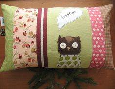 owl cushion, via Flickr