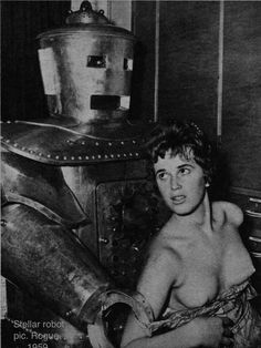 Another winner from one of my own magazines. Rogue, 1959. BEST ROBOT PIC EVER.