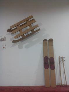 Ski et luge en carton Luge, Rosa Parks, Skiing, Origami, Images, Bronze, Animation, Christmas, Recherche Google