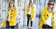 Cómo combinar un abrigo amarillo, ¡ficha esta idea!