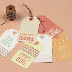 Love vs. Design | free new baby gift tag printables #print #diy #gifttags