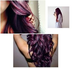 Burgundy plum hair... My next hair color?!?! Really loving this