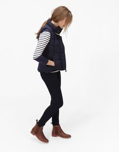Joules Eastleigh Padded Gilet in Marine Navy Size 6 | eBay