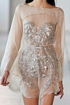 Light Weight Chiffon Metallic Dress