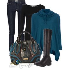 """Teal and Burberry"" by orysa on Polyvore"