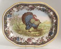 "22"" Turkey Oval Platter in Woodland by Spode"
