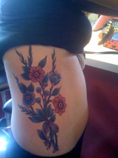 """""""You belong among the wildflowersYou belong somewhere close to meFar away from your trouble and worryYou belong somewhere you feel free""""    Wildflowers done by Andy Canino at Th'ink Tank tattoo studio in Denver, CO. My first tattoo and I was REALLY nervous.. but everyone there was super cool. If you're in Denver and looking to get work done, I'd definitely recommend this place!"""