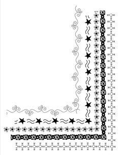 "INSTANT DOWNLOAD 5 Doodle Frames  8.5"" x 11"" Clip Art Set, Digital Clipart borders for teachers, scrapbooking, card making, invitations"
