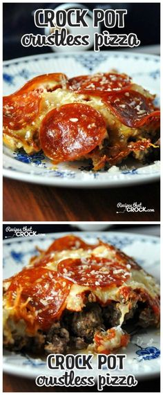I'm really EXCITED about this Low-Carb Crock Pot Crustless Pizza from Recipes that Crock. This blogger used the Crock-Pot Casserole Crock Slow Cooker but she says you can use a 6-Quart oval slow cooker as well. This recipe was featured for Casserole Crock Saturdays on SlowCookerFromScratch.com; stop by every Saturday to get ideas for the Casserole Crock-Pot!