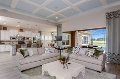 Longboat at LakeShore Ranch | Grand Room with access to Kitchen, Breakfast Area and Outdoor Living