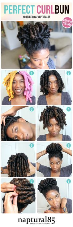 Natural Hair - Natural Hairstyle - Naptural85 - Bun - Wedding Hairstyle - Prom Hairstyle - Work Hairstyle - Quick Hairstyle - Cute Top Knot Bun