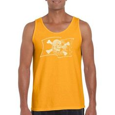 Los Angeles Pop Art Men's Tank Top - Famous Pirate Captains And Ships, Gold