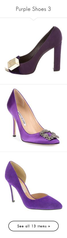 """Purple Shoes 3"" by franceseattle ❤ liked on Polyvore featuring shoes, pumps, purple, satin shoes, isabel marant, peep-toe pumps, purple peep toe pumps, purple satin pumps, purple high heel pumps and pointy-toe pumps"