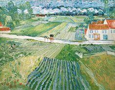 Landschaft bei Auvers nach dem Regen. 1890  www.tapeterie.de