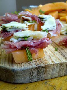 Soliloquy Of Food & Such: Prosciutto, Melon & Herbed Provolone