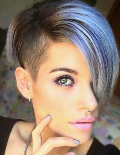 Classic Brunette Balayage - 20 Inspirational Long Choppy Bob Hairstyles - The Trending Hairstyle Undercut Hairstyles, Cool Hairstyles, Hairstyle Ideas, Bob Hairstyle, Shaved Hair, Short Hair Cuts Shaved, Bob With Shaved Side, Grunge Hair, Great Hair