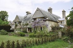 C F A Voysey, architect, Norney Grange House Edwardian Architecture, British Architecture, Architecture Details, Arts And Crafts House, Easy Arts And Crafts, Beautiful Buildings, Beautiful Homes, Small Country Homes, Country Houses