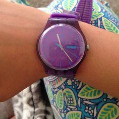 Purple swatch watch womens Purple Swatch watch. Swatch Jewelry