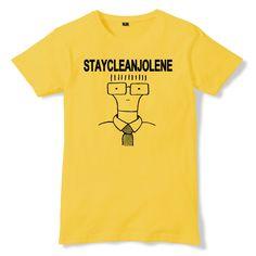STAY CLEAN JOLENE Milo Parody TShirt - eightbittees -  eightbittees - 1 Punk, Cleaning, Mens Tops, T Shirt, Art, Supreme T Shirt, Art Background, Tee Shirt, Kunst