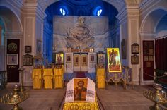 Church room in Gatchina Palace. Gatchina, suburb of Saint Petersburg, Russia.