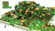Indoor Playground Castle Series ACX-5096A Jungle Themed with lots of activities. Priced at a wholesale direct, custom built price. Please contact us for any modification.