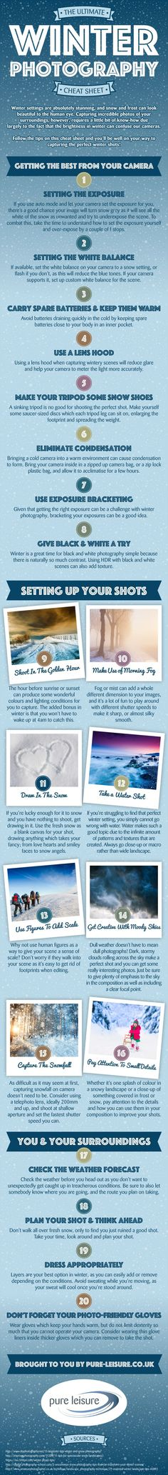 Photography tips | Take better photos | Check out 'The Ultimate Winter Photography Cheat Sheet' to get top tips for taking seasonal shots this winter!