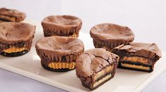 Turn Betty Crocker™ SuperMoist™ cake mix into delectable peanut butter brownie cups – a treat for all chocolate lovers.