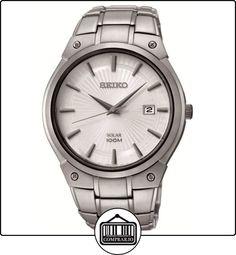 SEIKO  SNE339P1 - Reloj de automático para hombre, con correa de acero inoxidable, color plateado de  ✿ Relojes para hombre - (Gama media/alta) ✿