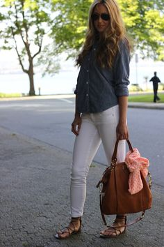 white denim, denim top