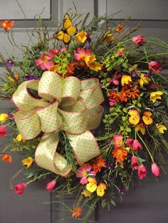 Spring Wreath Summer Wreath Wild Flower Wreath
