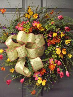 Spring Wreath Summer Wreath Wild Flower Wreath