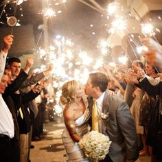 I want sparklers at my wedding!!!