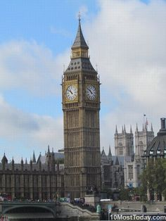The Elizabeth Tower, better known as Big Ben, located at the Palace of Westminster, is possibly the most famous landmark in London and in England. It is also one of the most famous buildings in Europe. It was completed in 1858 and is the third-tallest free-standing clock tower in the world.