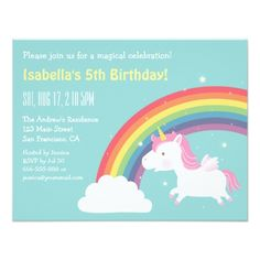 Unicorn Birthday Invitations Unicorn Invites Glitter Invitation Unicorn Horse Silver Glitter Rainbow Watercolour Watermark Girl Boy Invite